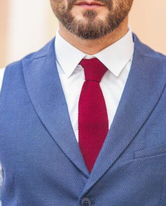 Стильный мужской жилет синего цвета. Арт.:3-554-3