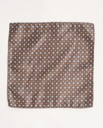 Коричневый нагрудный платок в горошек. Арт.:11-01