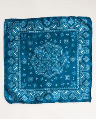 Синий нагрудный платок с принтом. Арт.:11-05