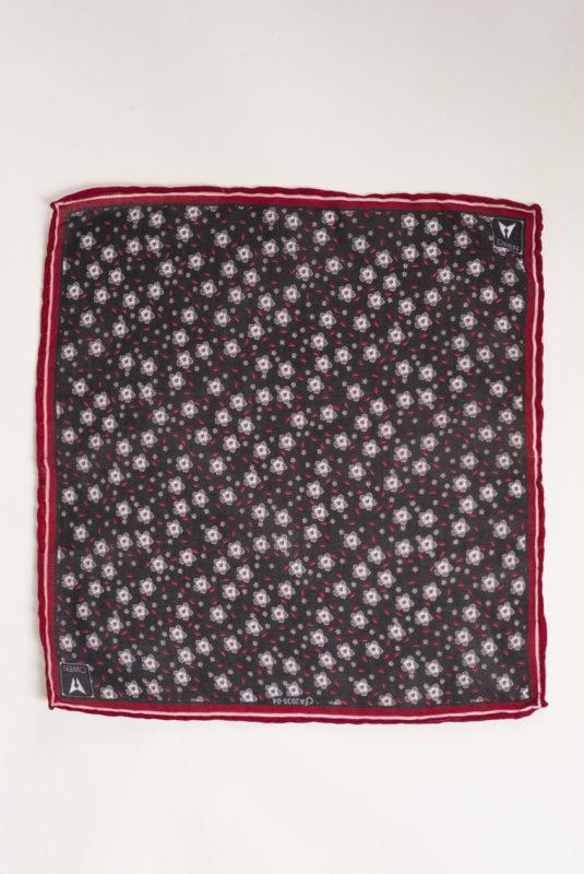 Черный платок с цветочным принтом. Арт.:11-08