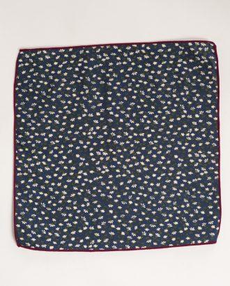 Темно-синий платок с принтом. Арт.:11-12