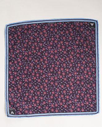 Синий платок с цветочным принтом. Арт.:11-15