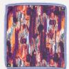 Бордовый нагрудный платок с принтом. Арт.:11-11