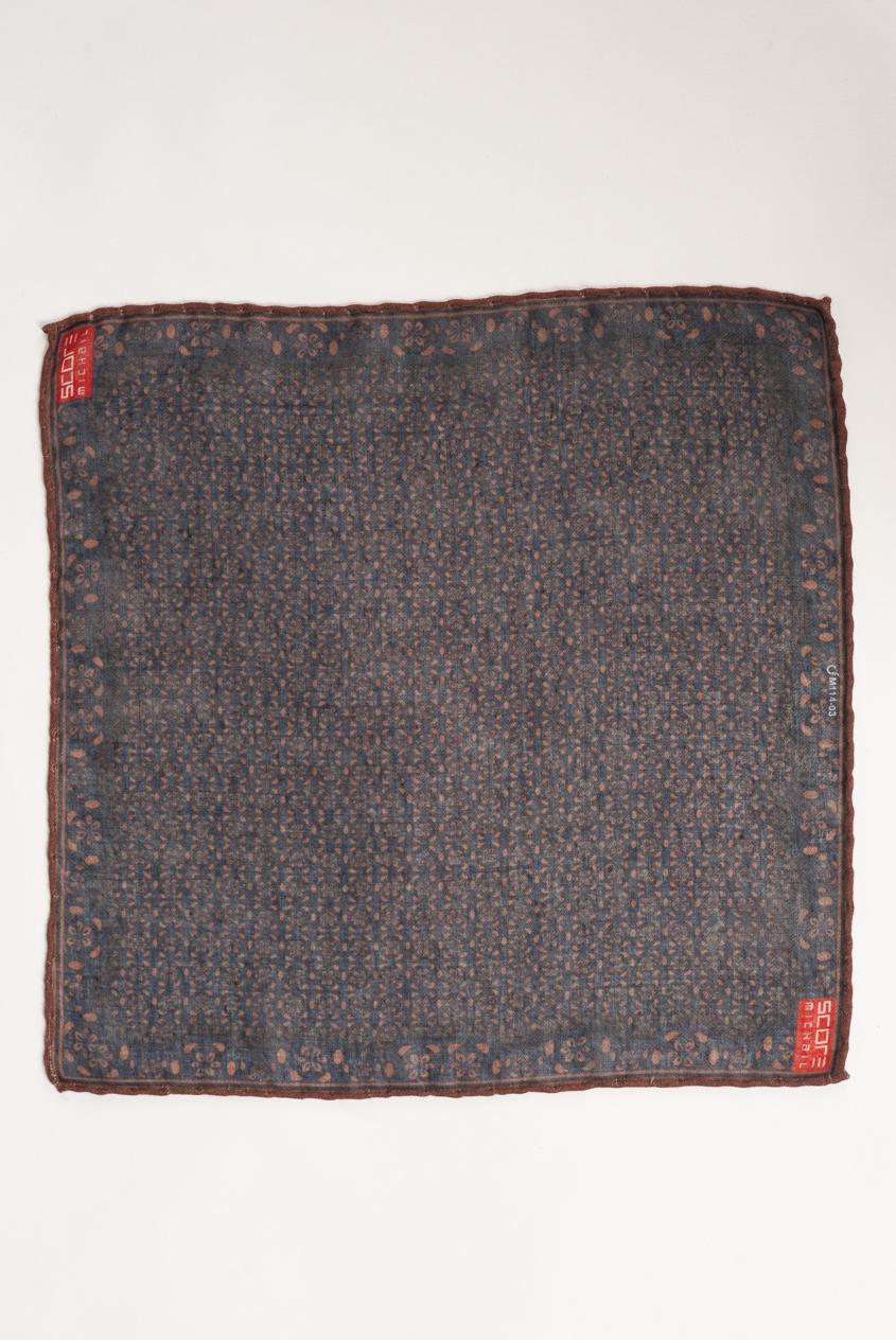 Коричневый платок в нагрудный карман. Арт.:11-19