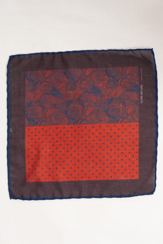 Нагрудный платок с бордовым принтом. Арт.:11-20