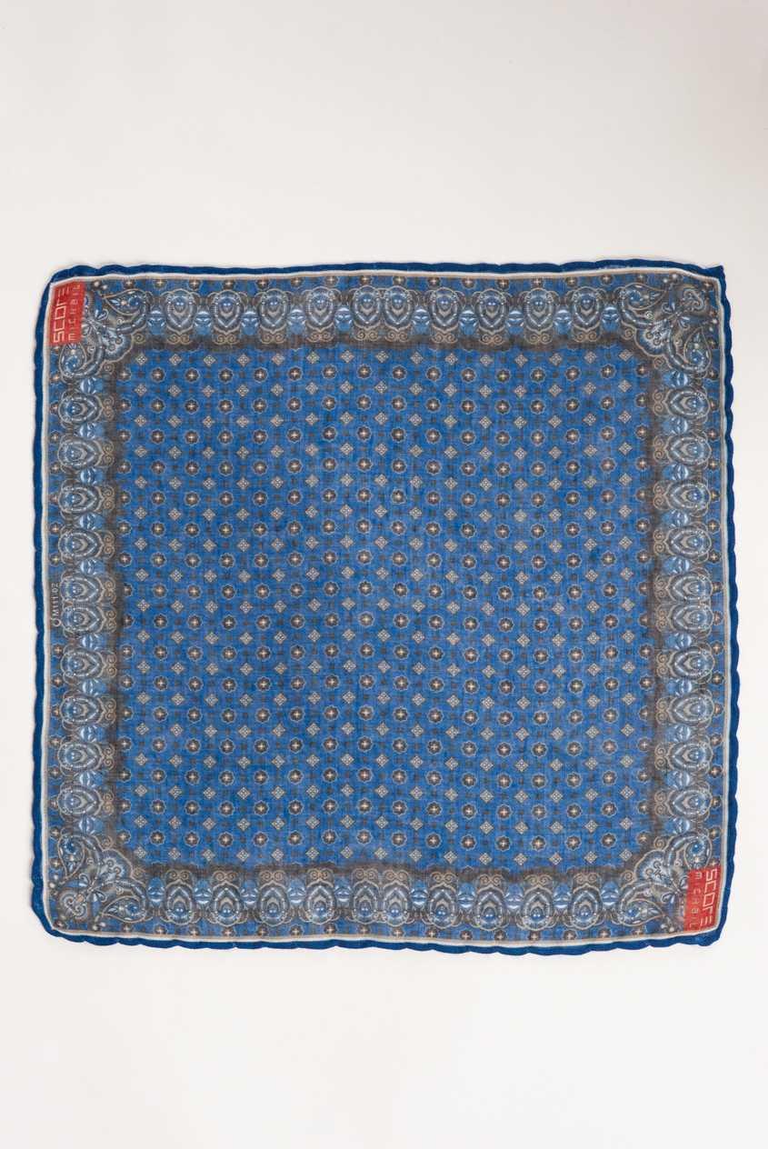 Светло-синий платок в нагрудный карман. Арт.:11-22