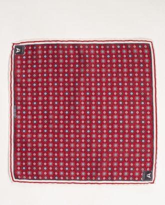 Бордовый нагрудный платок с принтом. Арт.:11-24