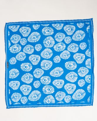 Ярко-голубой платок в нагрудный карман. Арт.:11-25