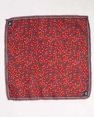 Нагрудный платок бордо с принтом. Арт.:11-26