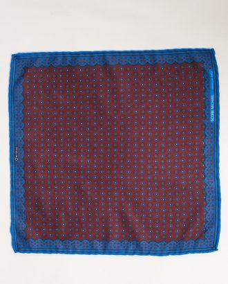 Платок винного цвета с синей кромкой. Арт.:11-28