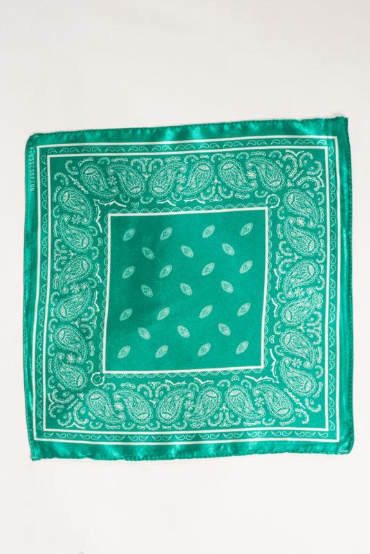 Нагрудный платок изумрудного  цвета. Арт.:11-30