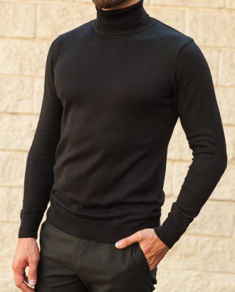 Мужская водолазка черного цвета. Арт.:8-559-8
