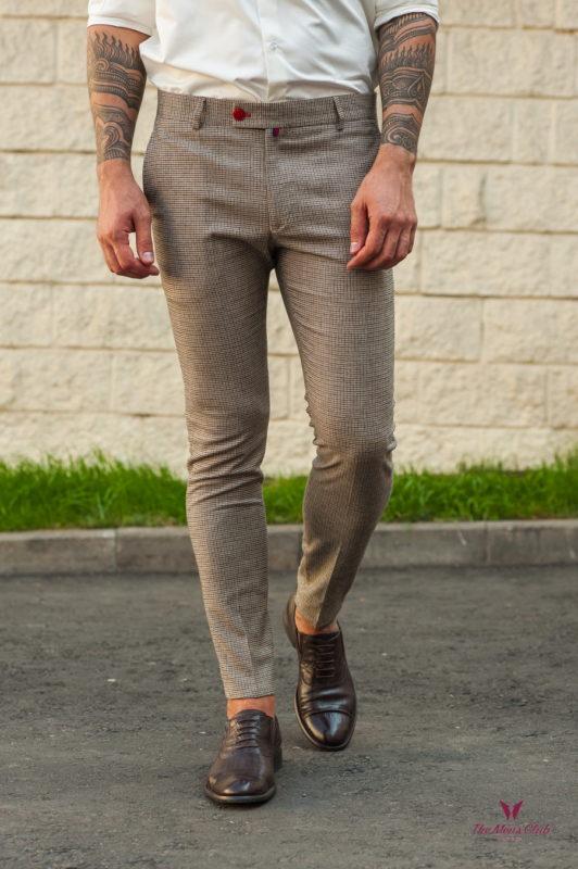Мужские зауженные брюки с мелким узором. Арт.:6-570-3