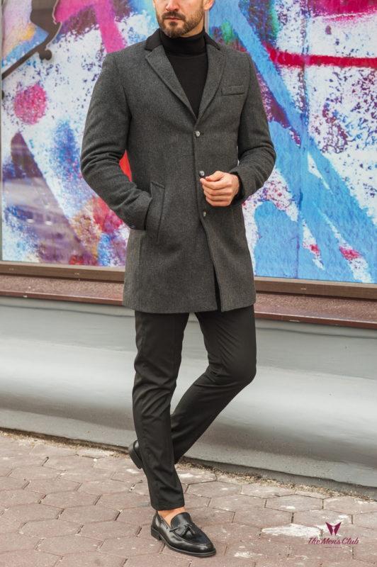 Кашемировое мужское пальто. Арт.:1-581-10