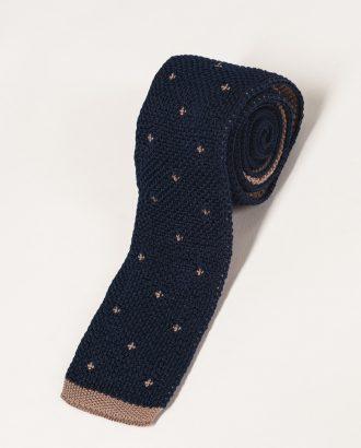 Вязаный галстук с мелким принтом. Арт.:10-24