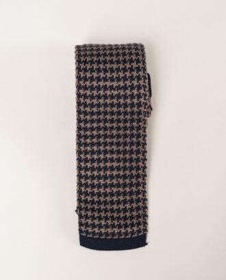 Вязаный галстук в коричневых тонах. Арт.:10-25