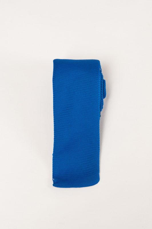 Вязаный галстук синего цвета. Арт.:10-26