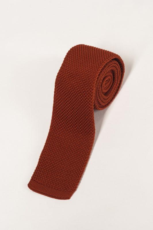 Вязаный галстук медно-коричневого цвета. Арт.:10-27