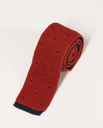 Коричневый  галстук с мелким принтом. Арт.:10-33