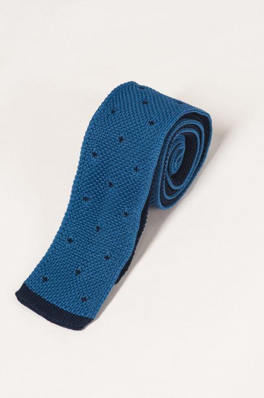 Синий галстук с синим принтом. Арт.:10-40