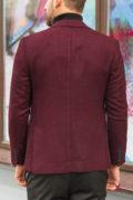 Мужской бордовый пиджак без подкладки. Арт.:2-580-5