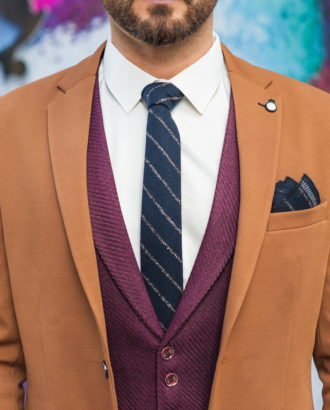 Стильный мужской пиджак горчичного цвета. Арт.:2-584-1