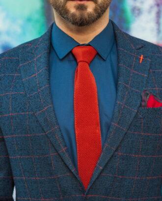 Стильный мужской пиджак темного цвета в клетку. Арт.:2-592-25