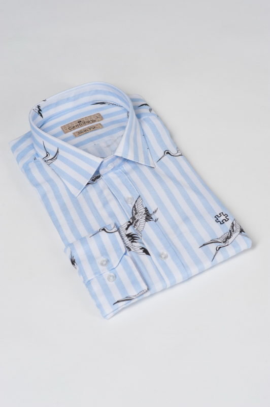 Оригинальная рубашка с аистами. Арт.:5-506-26
