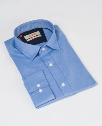 Голубая рубашка из хлопка. Арт.:5-518-3