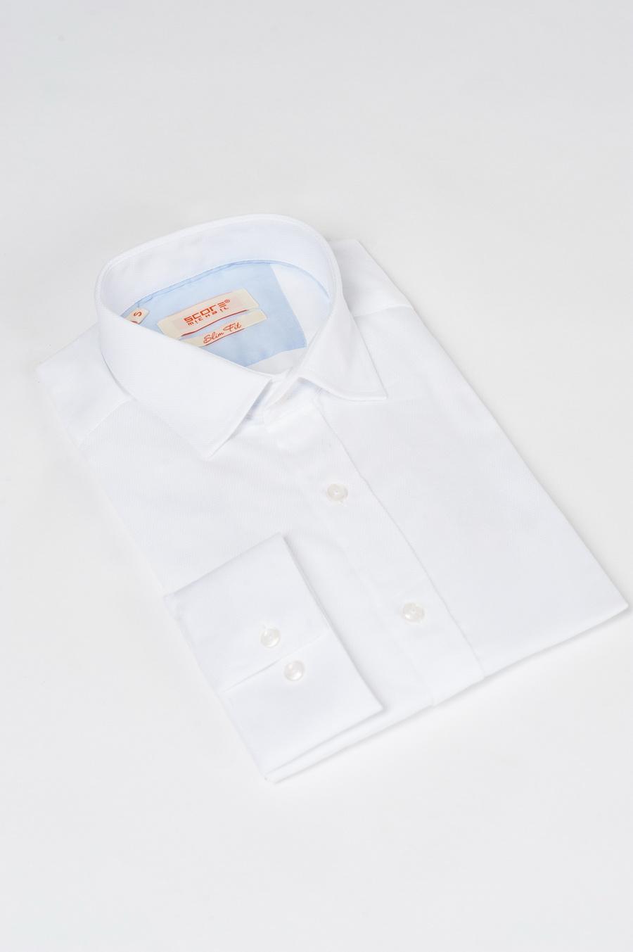 Приталенная рубашка белого цвета. Арт.:5-523-3