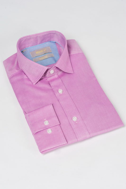 Приталенная рубашка розового цвета. Арт.:5-531-3