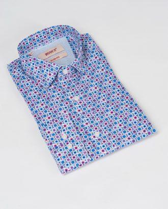 Хлопковая рубашка с ярким принтом. Арт.:5-532-3