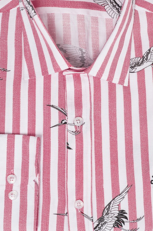 Рубашка в полоску с принтом. Арт.:5-507-26