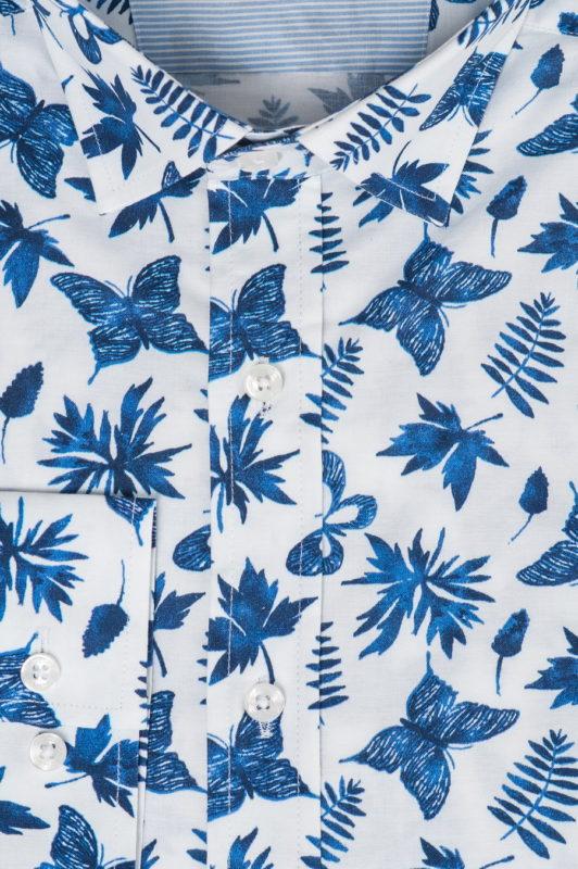 Приталенная рубашка с бабочками. Арт.:5-528-3