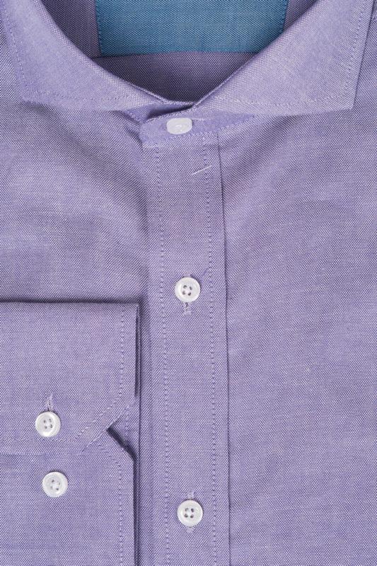 Сиреневая рубашка с французским воротником. Арт.:5-530-3