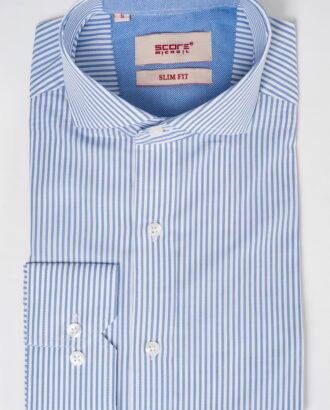 Приталенная рубашка в вертикальную полоску. Арт.:5-529-3