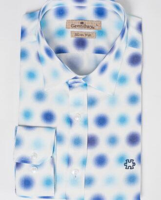 Белая рубашка с оригинальным принтом. Арт.:5-527-26