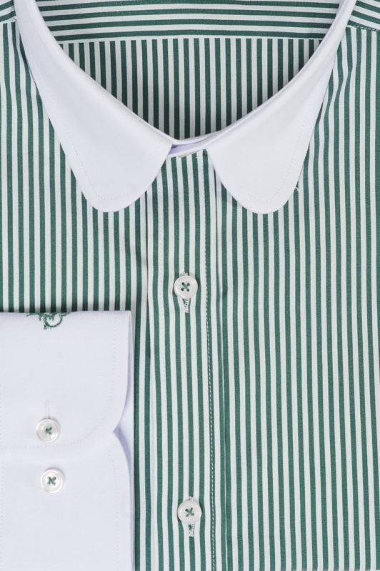 Рубашка в полоску с контрастным воротником. Арт.:5-526-3