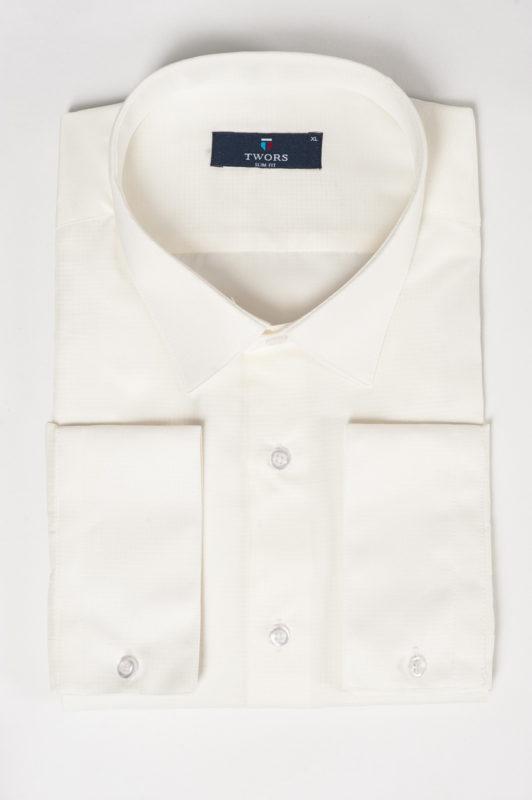 Рубашка цвета айвори из хлопка. Арт.:5-521-12