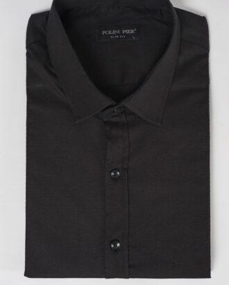 Черная рубашка super slim. Арт.:5-505-8