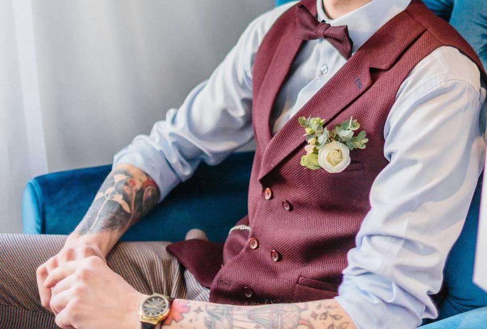 Свадьба в стиле лофт и наряд жениха