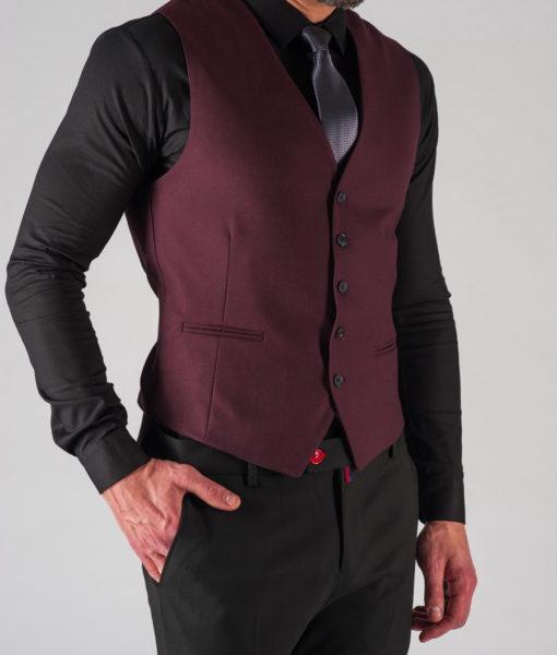 Классическая мужская жилетка в бордовом цвете. Арт.:3-604-8