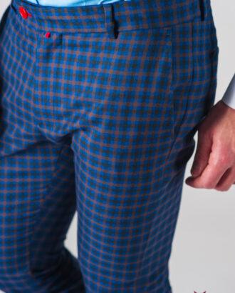 Мужские брюки-чинос в мелкую клетку. Арт.:6-607-3