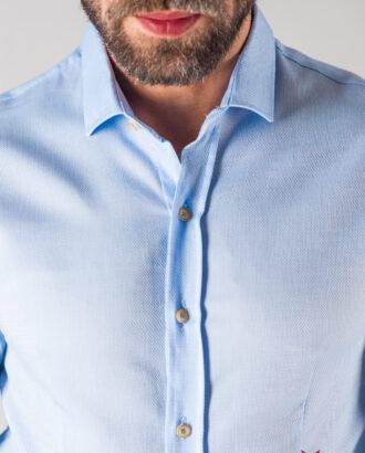 Голубая мужская рубашка. Арт.:5-608-8