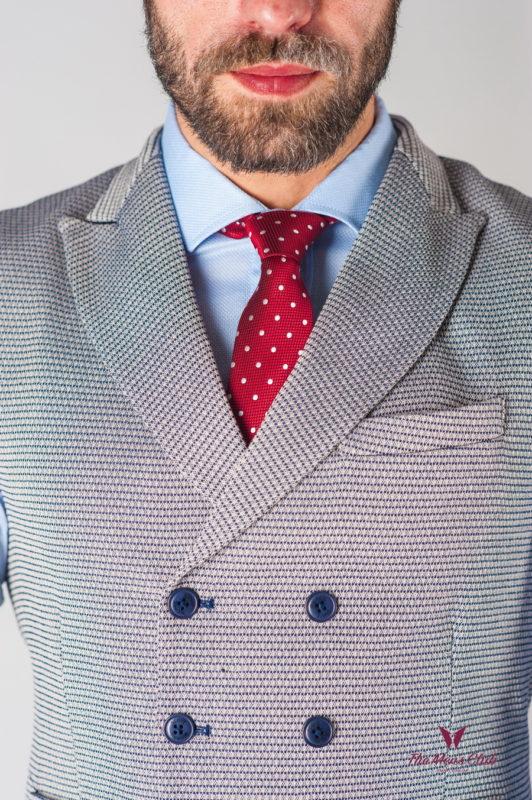 Двубортный мужской жилет серого цвета. Арт.:3-609-3