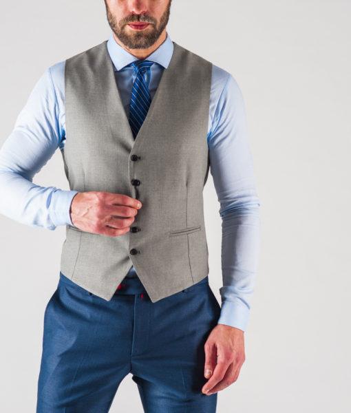Мужской жилет серого цвета. Арт.:3-610-5