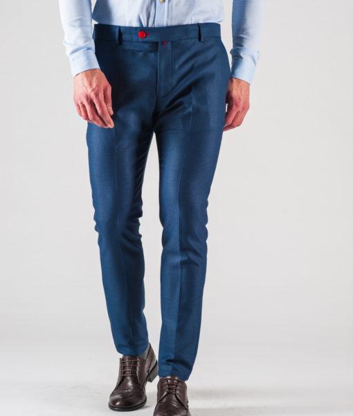 6a31cf38f757 Мужские синие брюки зауженного кроя. Арт.:6-610-3 - Smartcasuals