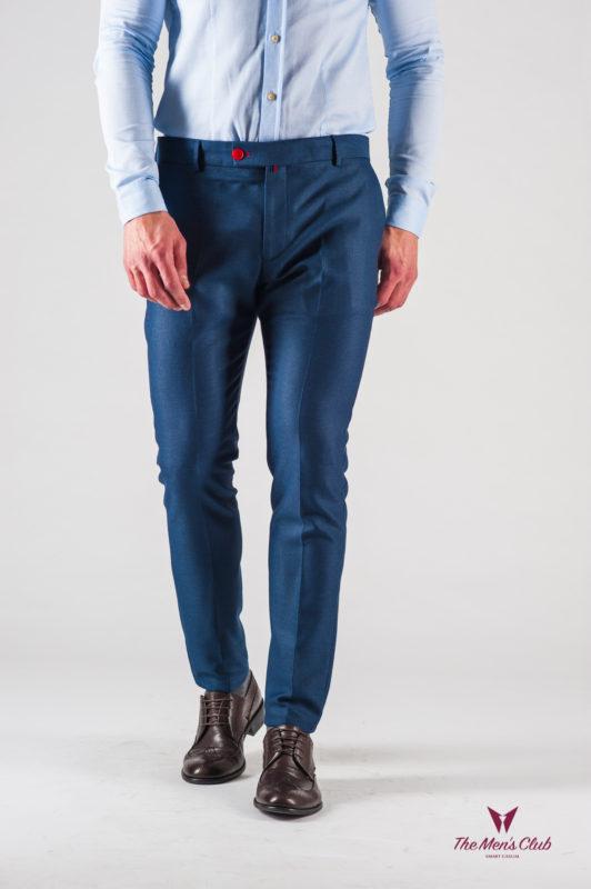 Мужские синие брюки зауженного кроя. Арт.:6-610-3