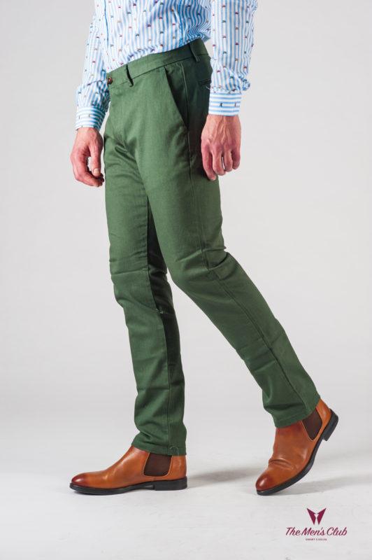 Мужские брюки зеленого цвета. Арт.:6-612-2