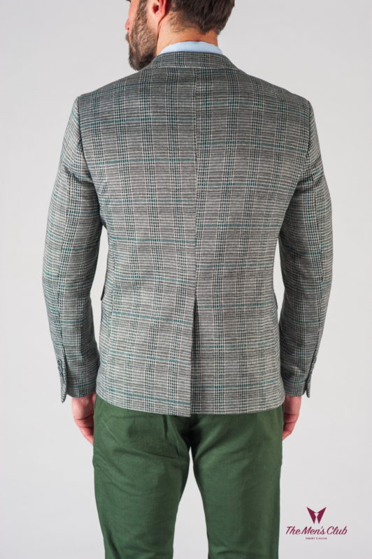 Шерстяной мужской пиджак в клетку. Арт.:2-613-24